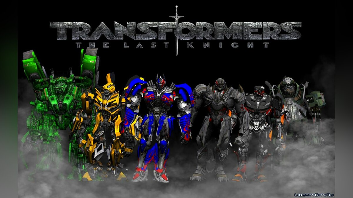 Transformers The Last Knight skin pack для GTA San Andreas