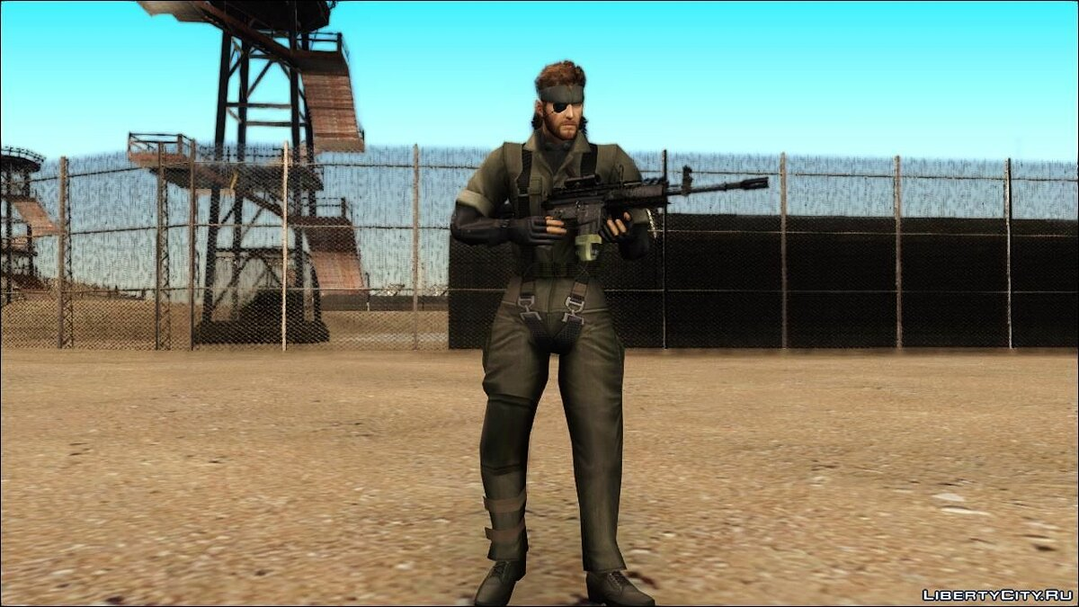 Metal Gear Solid 3 BIG BOSS camo pack для GTA San Andreas