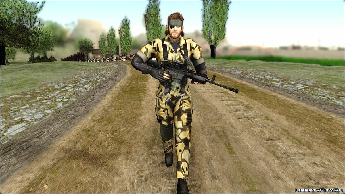 Metal Gear Solid 3 BIG BOSS camo pack для GTA San Andreas - скриншот #9
