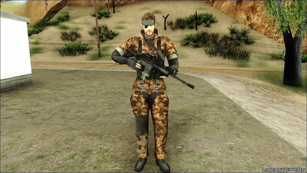 Metal Gear Solid 3 BIG BOSS camo pack для GTA San Andreas - скриншот #4