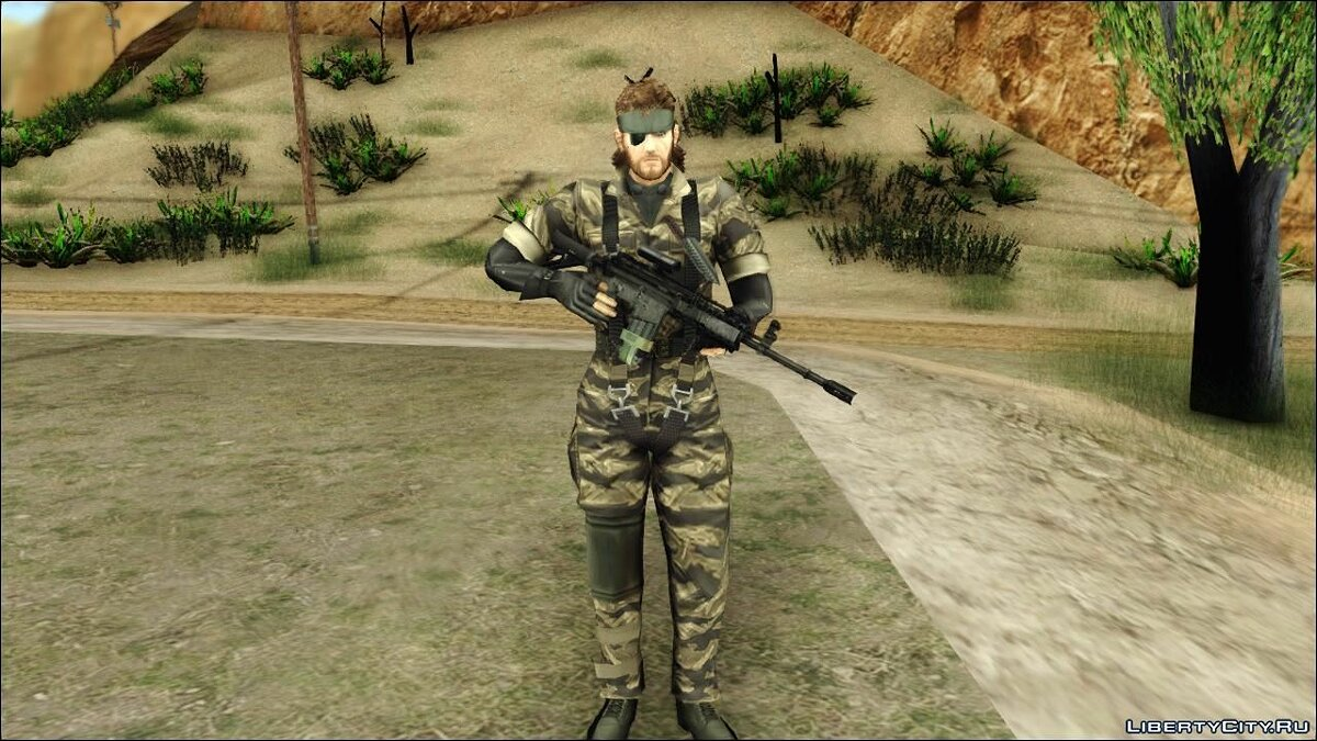 Metal Gear Solid 3 BIG BOSS camo pack для GTA San Andreas - скриншот #7