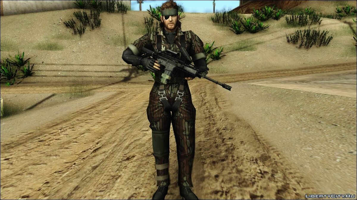 Metal Gear Solid 3 BIG BOSS camo pack для GTA San Andreas - скриншот #2