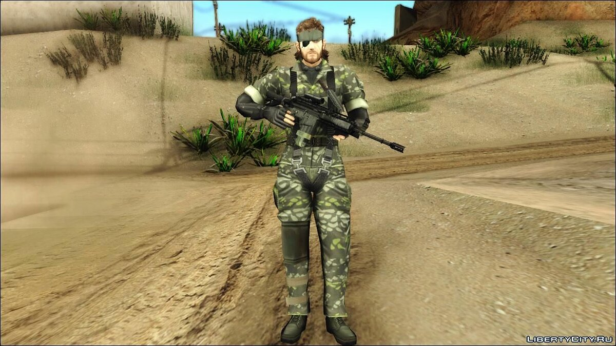 Metal Gear Solid 3 BIG BOSS camo pack для GTA San Andreas - скриншот #10