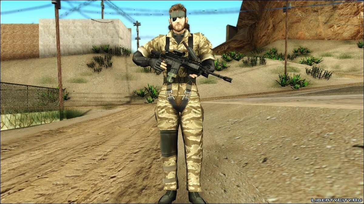 Metal Gear Solid 3 BIG BOSS camo pack для GTA San Andreas - скриншот #8