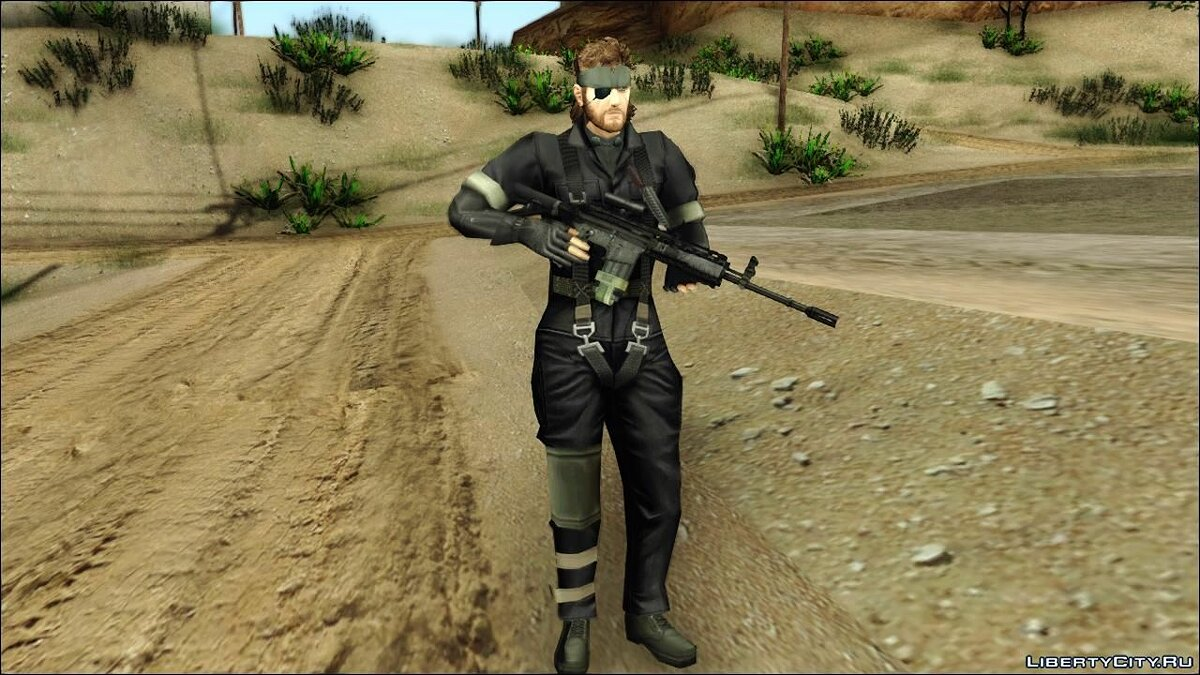 Metal Gear Solid 3 BIG BOSS camo pack для GTA San Andreas - скриншот #5