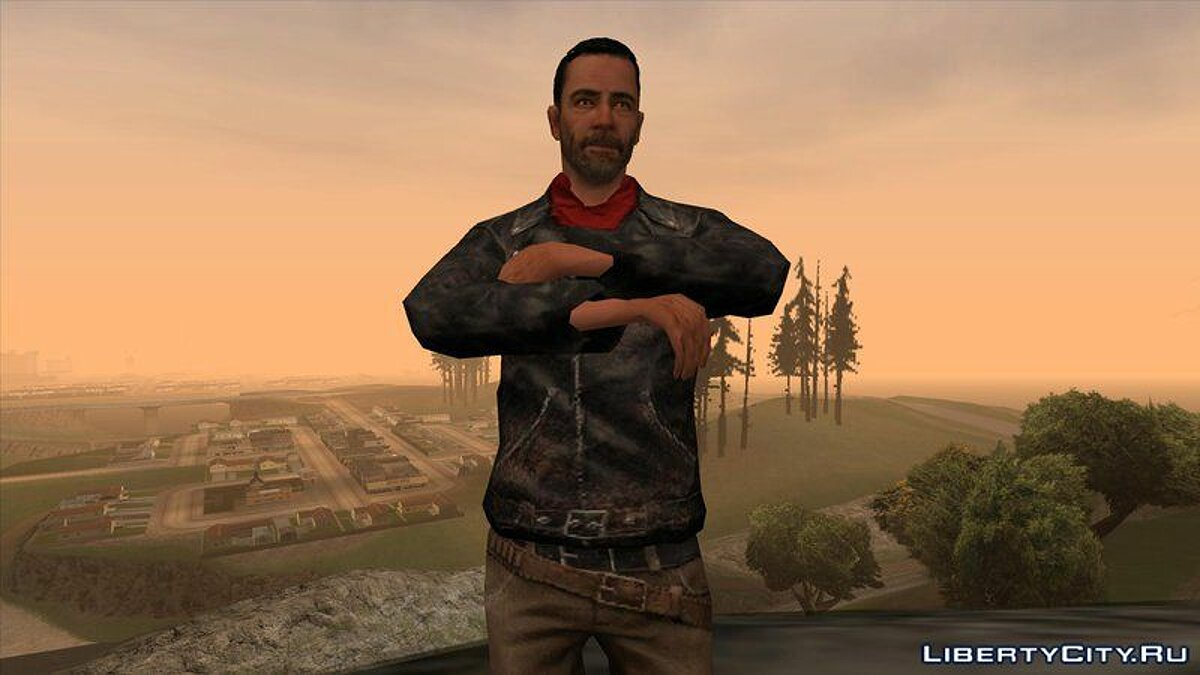 ��овый персонаж The Walking Dead No Man's Land Negan для GTA San Andreas