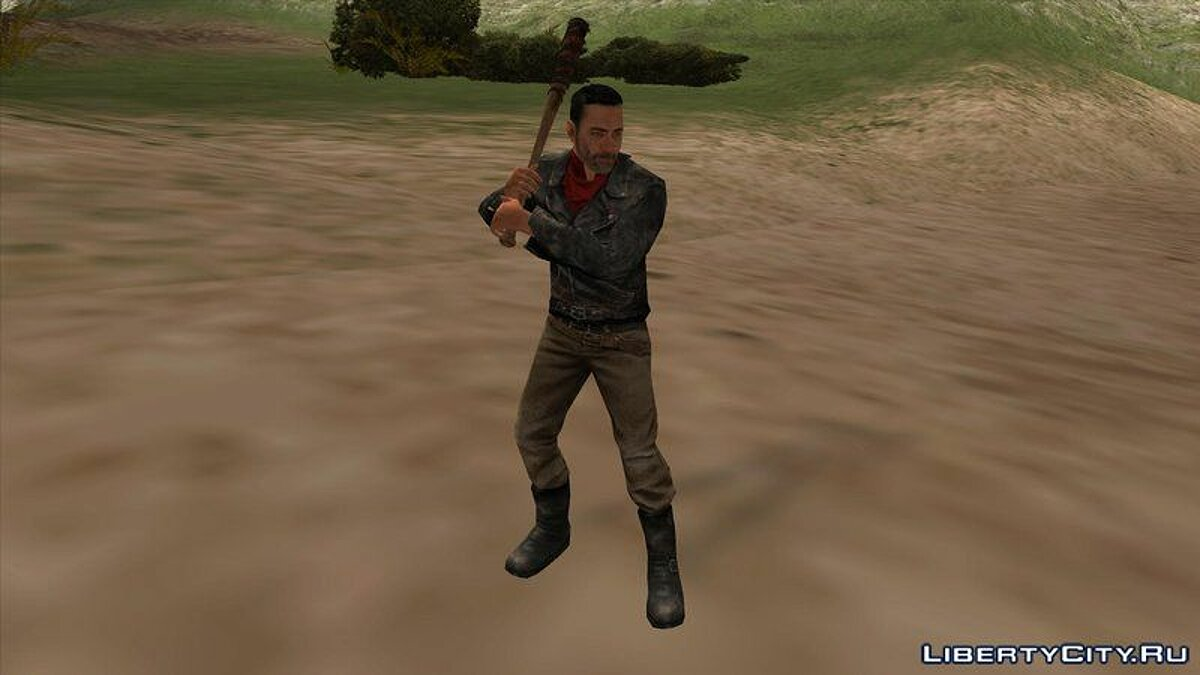 Новый персонаж The Walking Dead No Man's Land Negan для GTA San Andreas