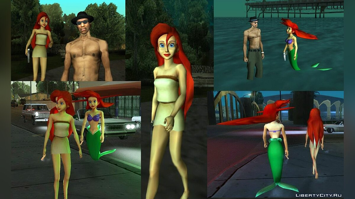 Arial Human And Mermaid для GTA San Andreas
