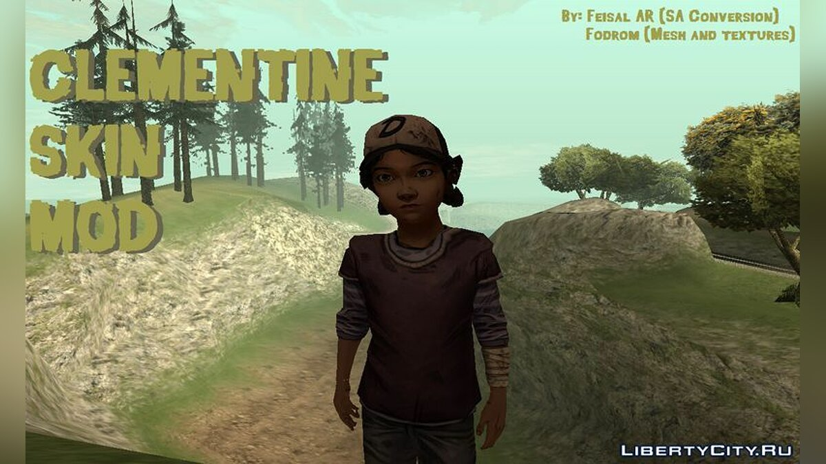 Clementine (The Walking Dead) для GTA San Andreas