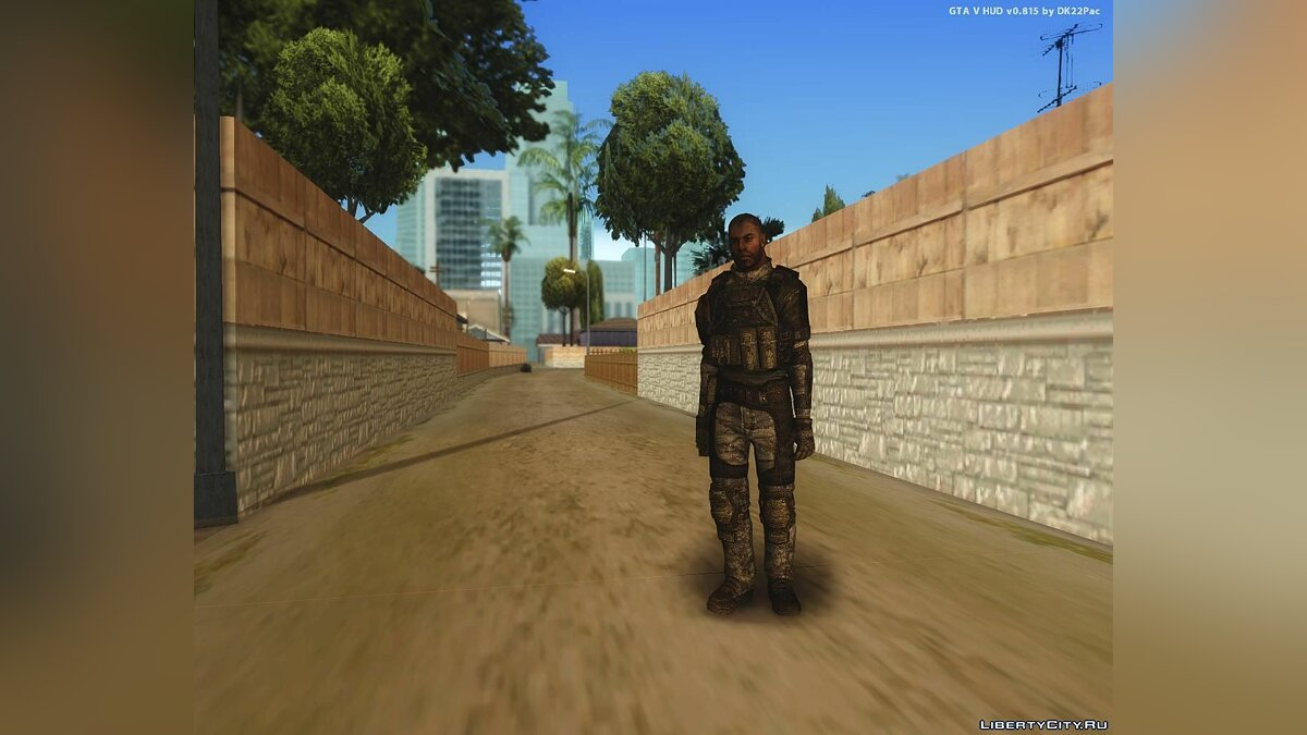 Soldier from HomeFront для GTA San Andreas - скриншот #2