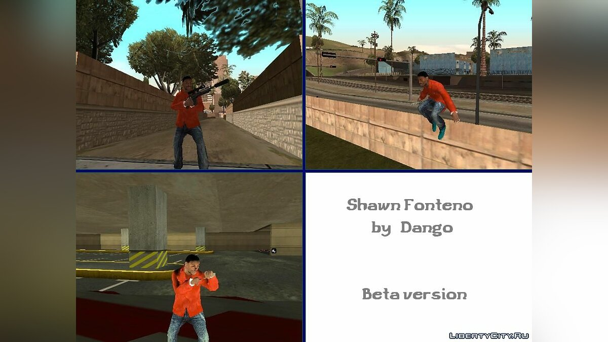 Shawn Fonteno (beta) [Для конкурса] для GTA San Andreas
