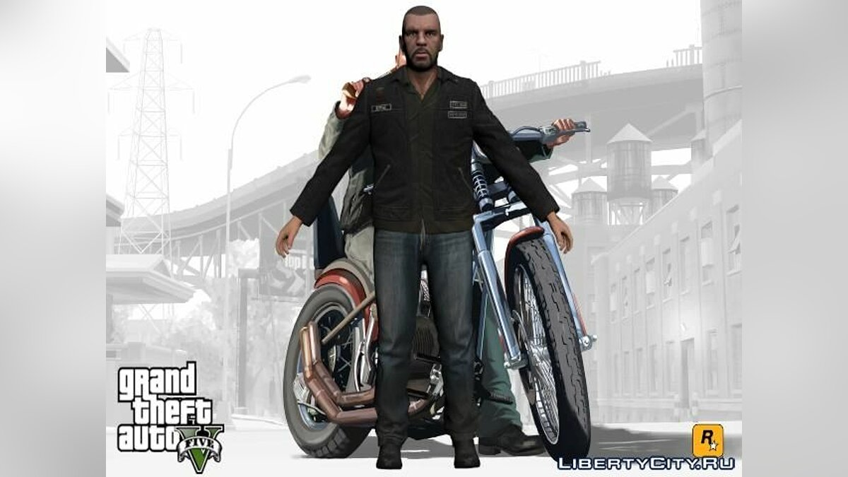 Johnny Klebitz From GTA V (With normal head) для GTA San Andreas