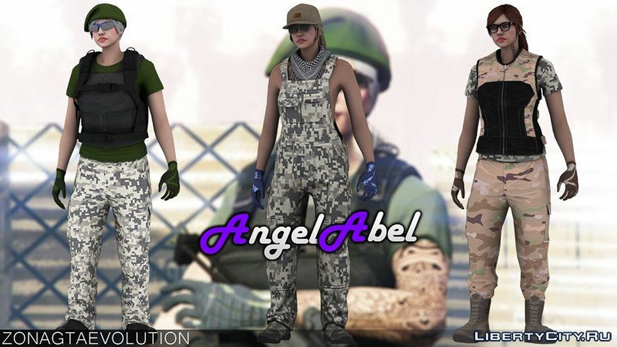 GunRunning Skin Pack Female для GTA San Andreas