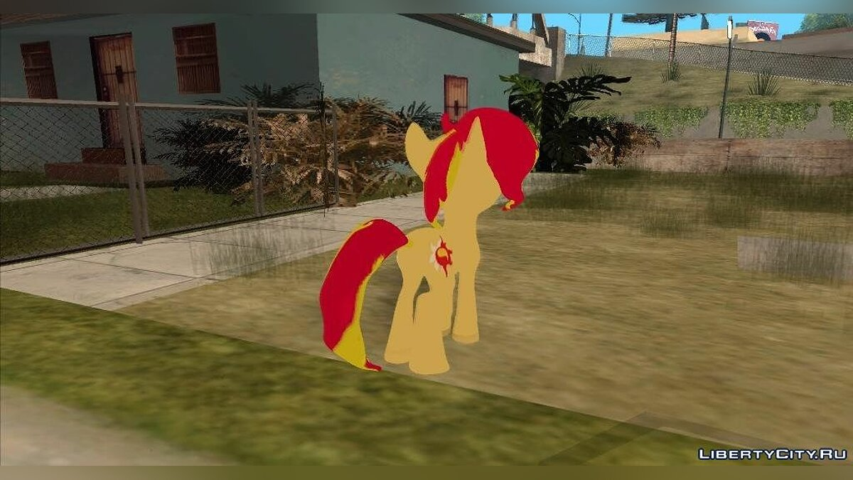 Sunset Shimmer (My Little Pony) для GTA San Andreas - скриншот #2