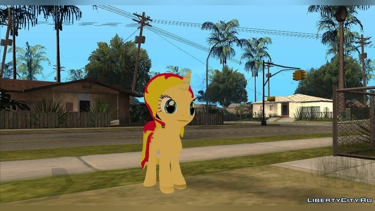 Sunset Shimmer (My Little Pony) для GTA San Andreas
