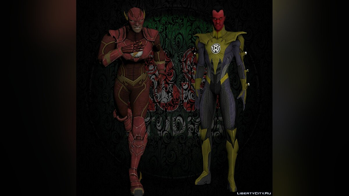 Sinestro and Flash для GTA San Andreas