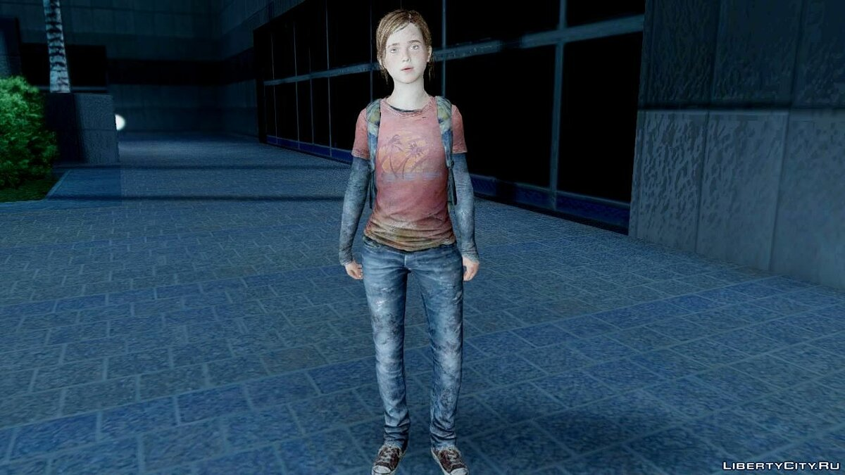 The Last Of Us Ellie для GTA San Andreas