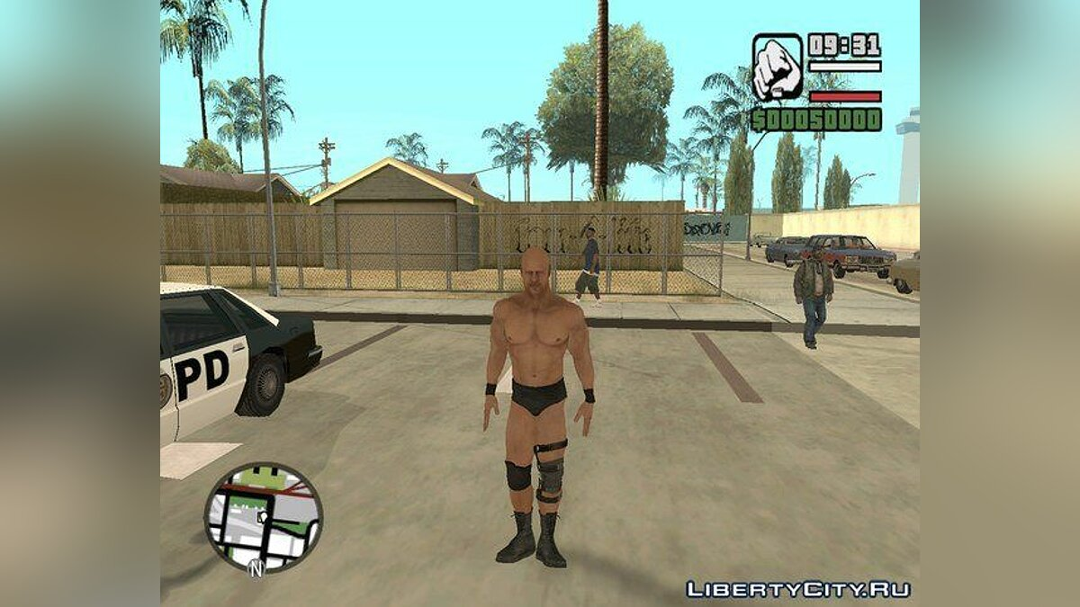 Stone Cold Steve Austin SVR'11 xbox360 and WWE'13 Wii для GTA San Andreas