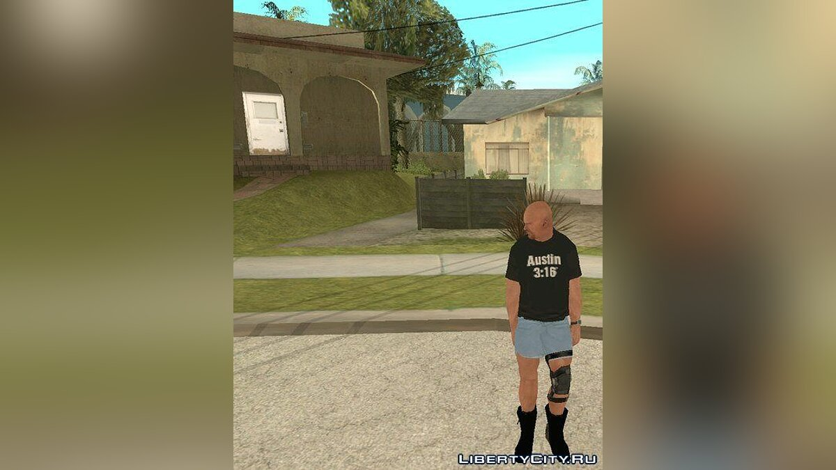 Stone Cold Steve Austin SVR'11 xbox360 and WWE'13 Wii для GTA San Andreas - скриншот #2
