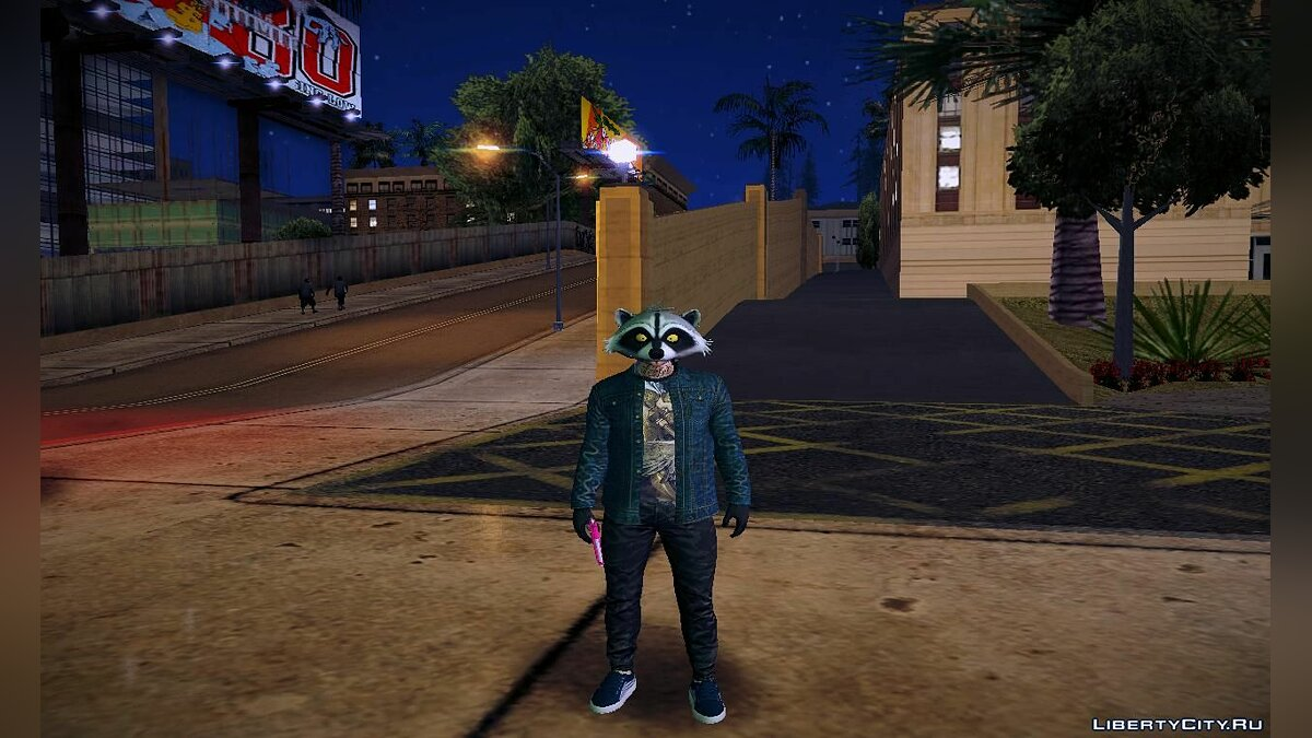 GTA Online Random Skin in Raccoon Mask для GTA San Andreas - скриншот #3