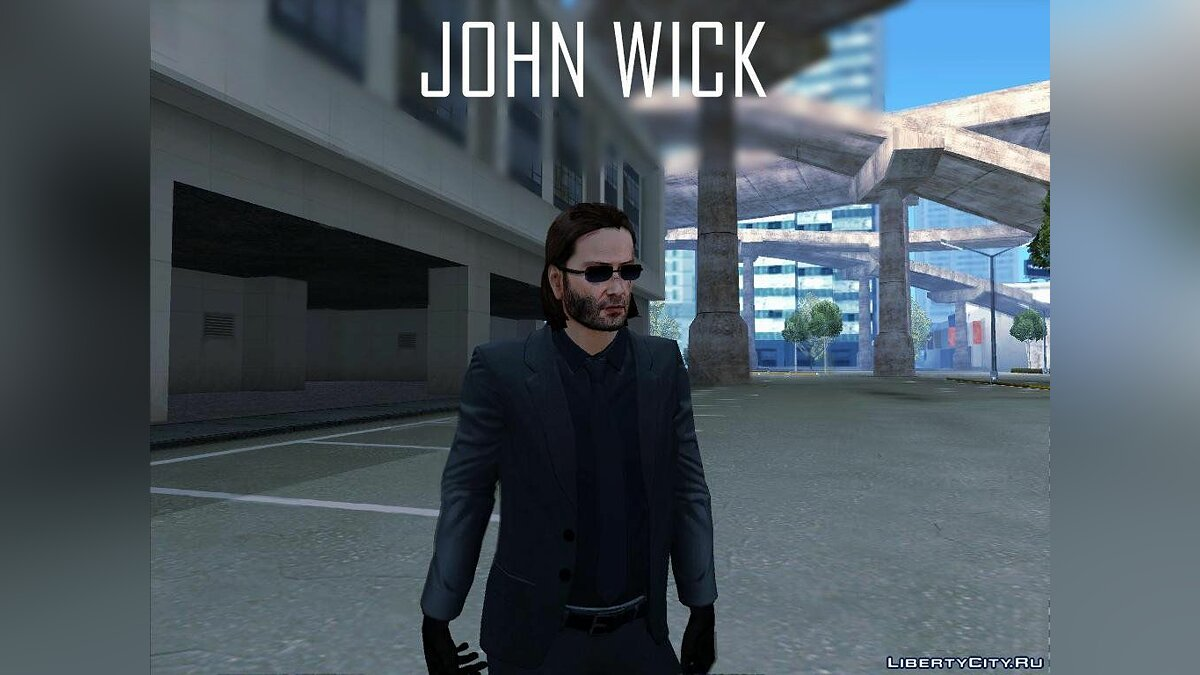 John Wick from Payday 2 для GTA San Andreas
