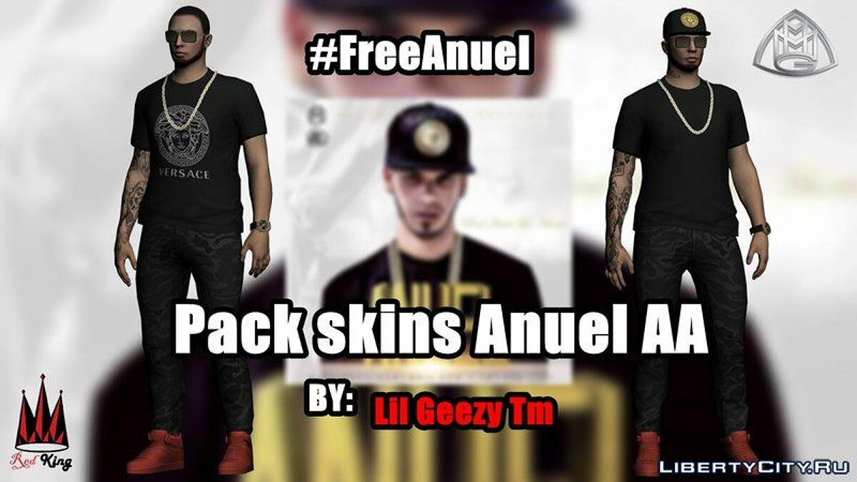 Pack Skins Of Anuel AA For GTA SA для GTA San Andreas