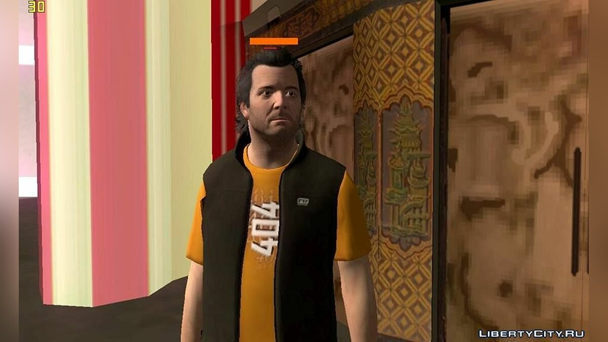 Michael in custom clothes для GTA San Andreas