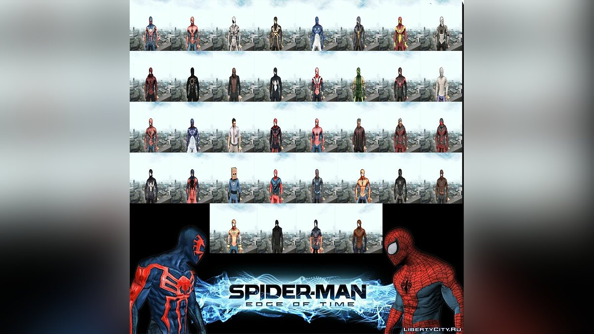 Новый персонаж Spider man EOT Full Skins Pack для GTA San Andreas
