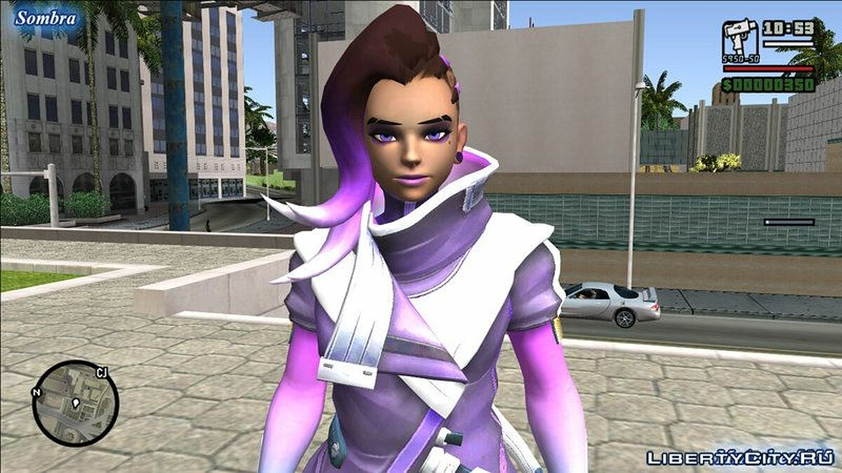 Sombra from Overwatch для GTA San Andreas