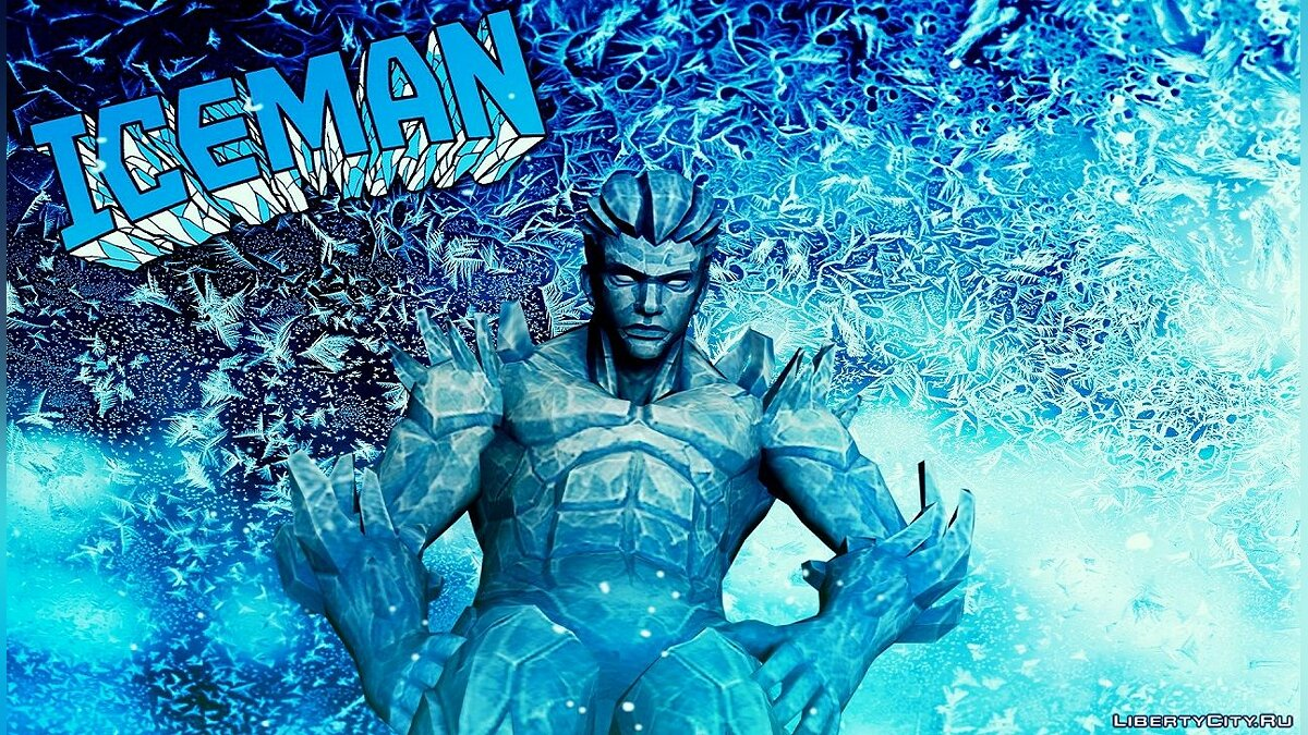 Новый персонаж Iceman (MARVEL: Future Fight) для GTA San Andreas