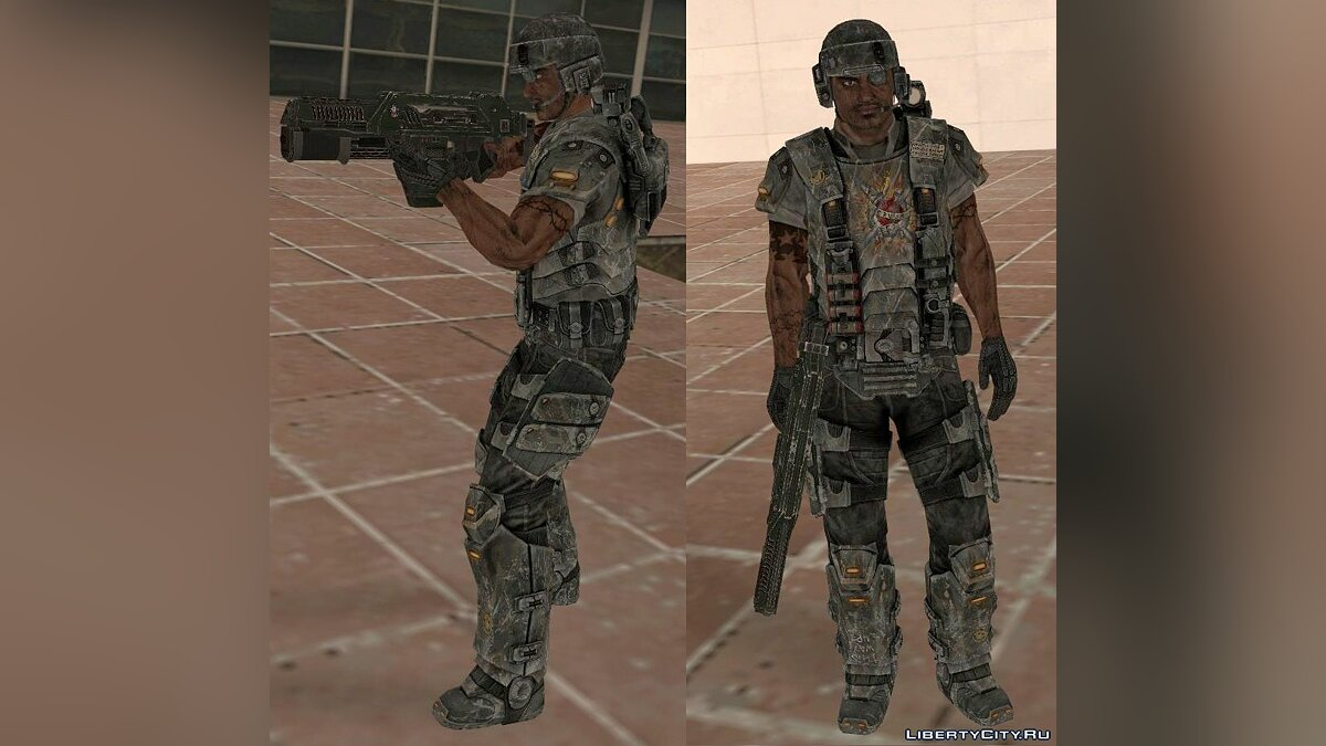 Космодесантник (конверт из Aliens vs. Predator 2010.) для GTA San Andreas