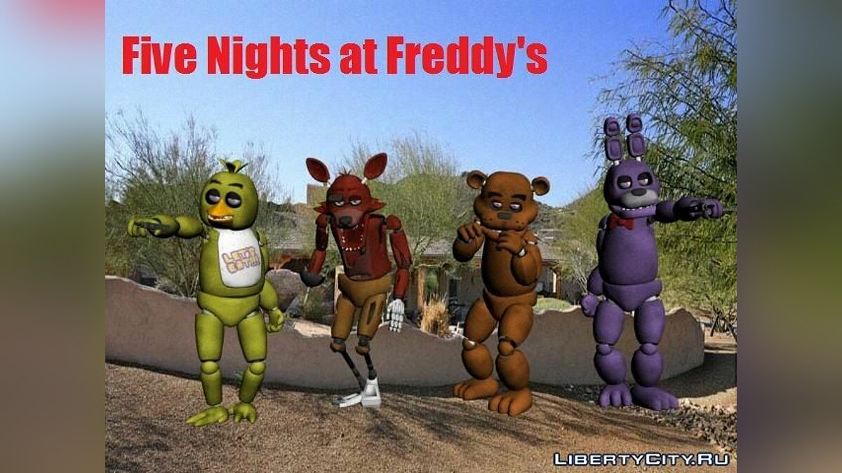 Five Nights at Freddy's PACK для GTA San Andreas