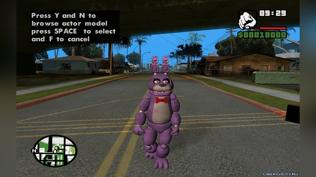 Five Nights at Freddy's PACK для GTA San Andreas - скриншот #4