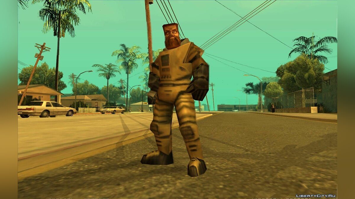 ��овый персонаж Ivan the Space Biker From Half-Life Alpha для GTA San Andreas
