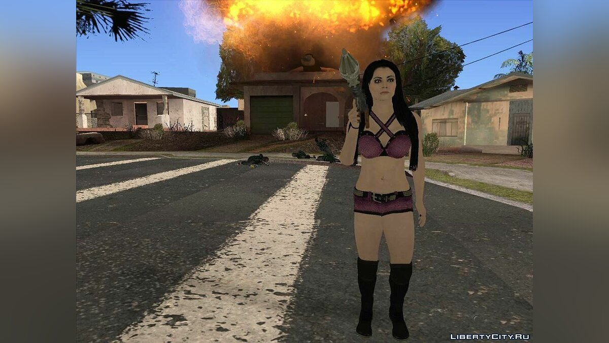 Paige from WWE 2015 для GTA San Andreas