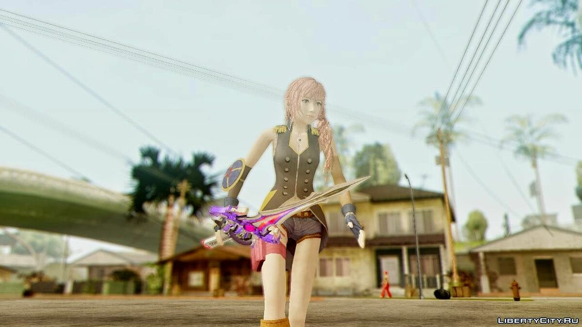 Final Fantasy XIII-2 Serah Style and Steel для GTA San Andreas