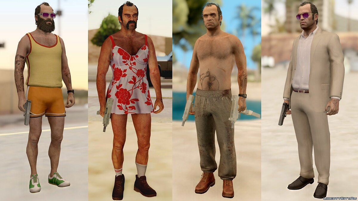 Trevor Phillips Skin Pack для GTA San Andreas - скриншот #5