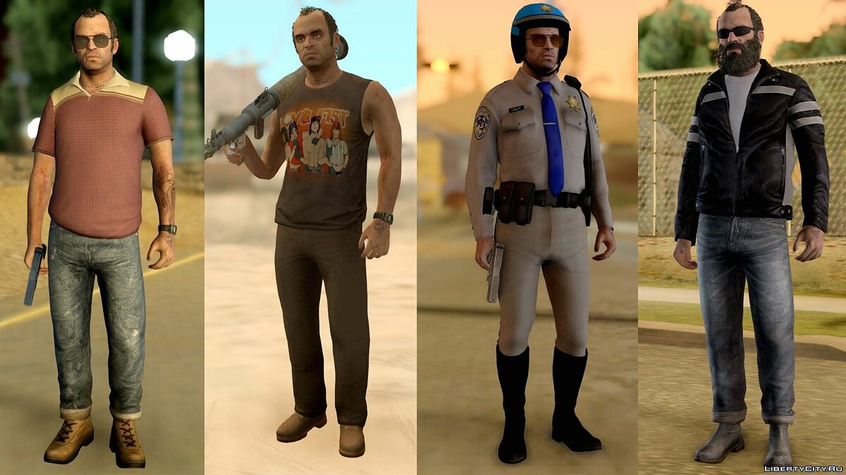 Trevor Phillips Skin Pack для GTA San Andreas - скриншот #4
