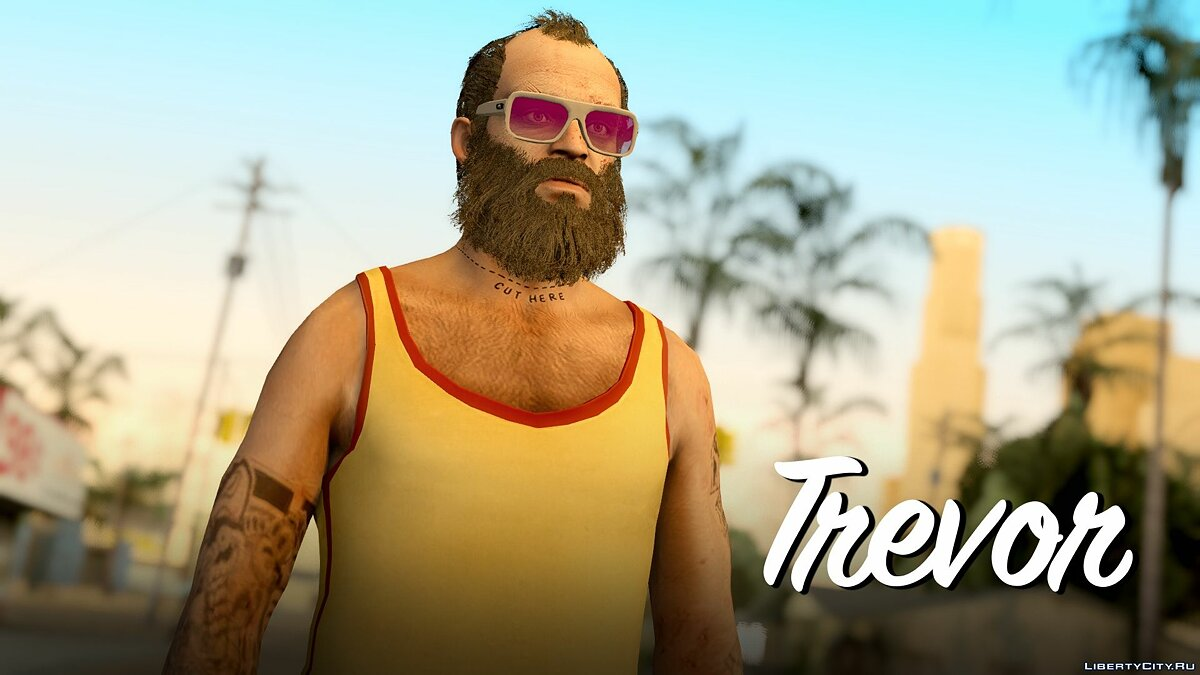 Trevor Phillips Skin Pack для GTA San Andreas - скриншот #2