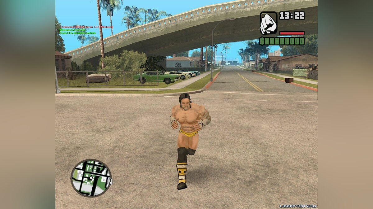 CM Punk from Wii WWE All Stars для GTA San Andreas
