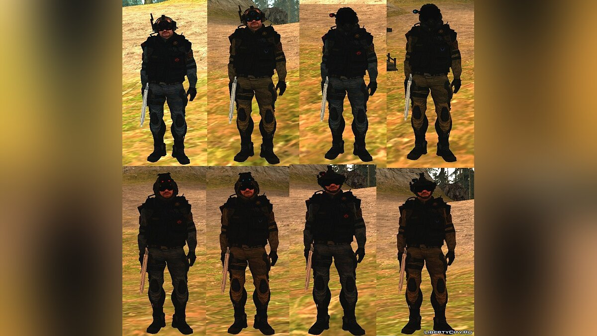 WarFace Skin PACK v2 для GTA San Andreas