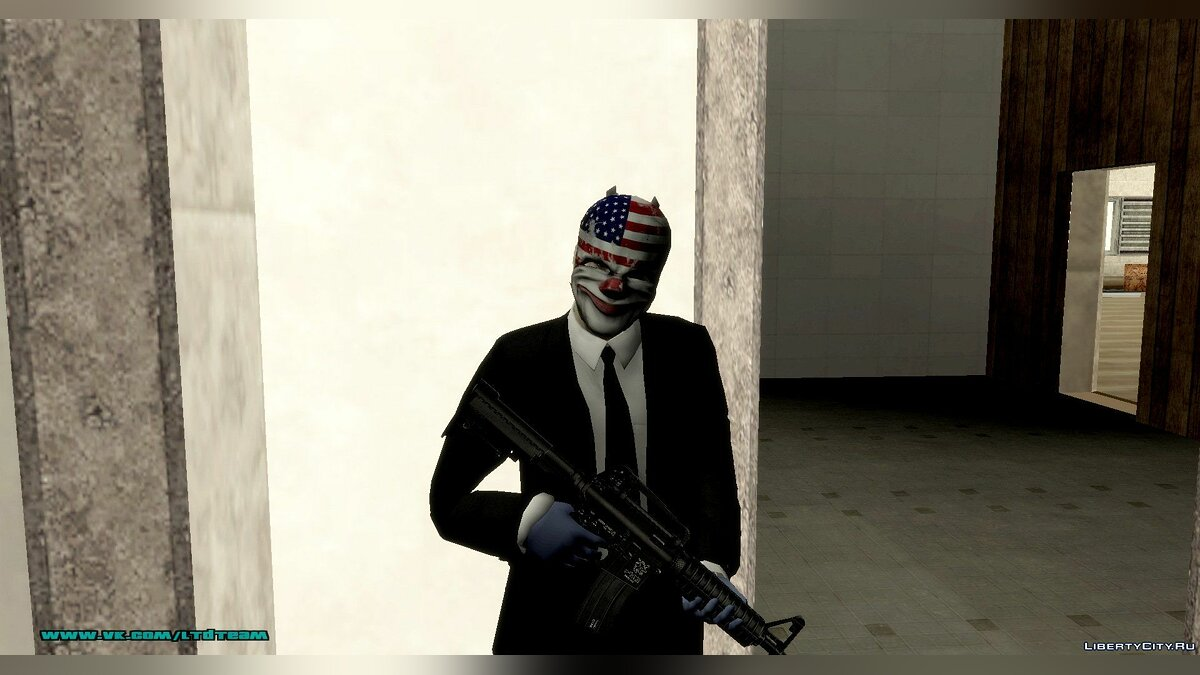PayDay: The Heist Skins для GTA San Andreas - скриншот #2