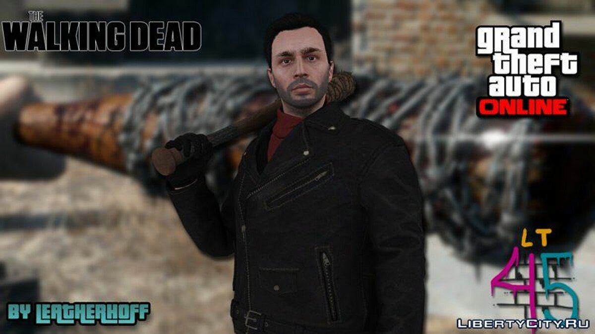 Negan from The Walking Dead (GTA Online Style) для GTA San Andreas