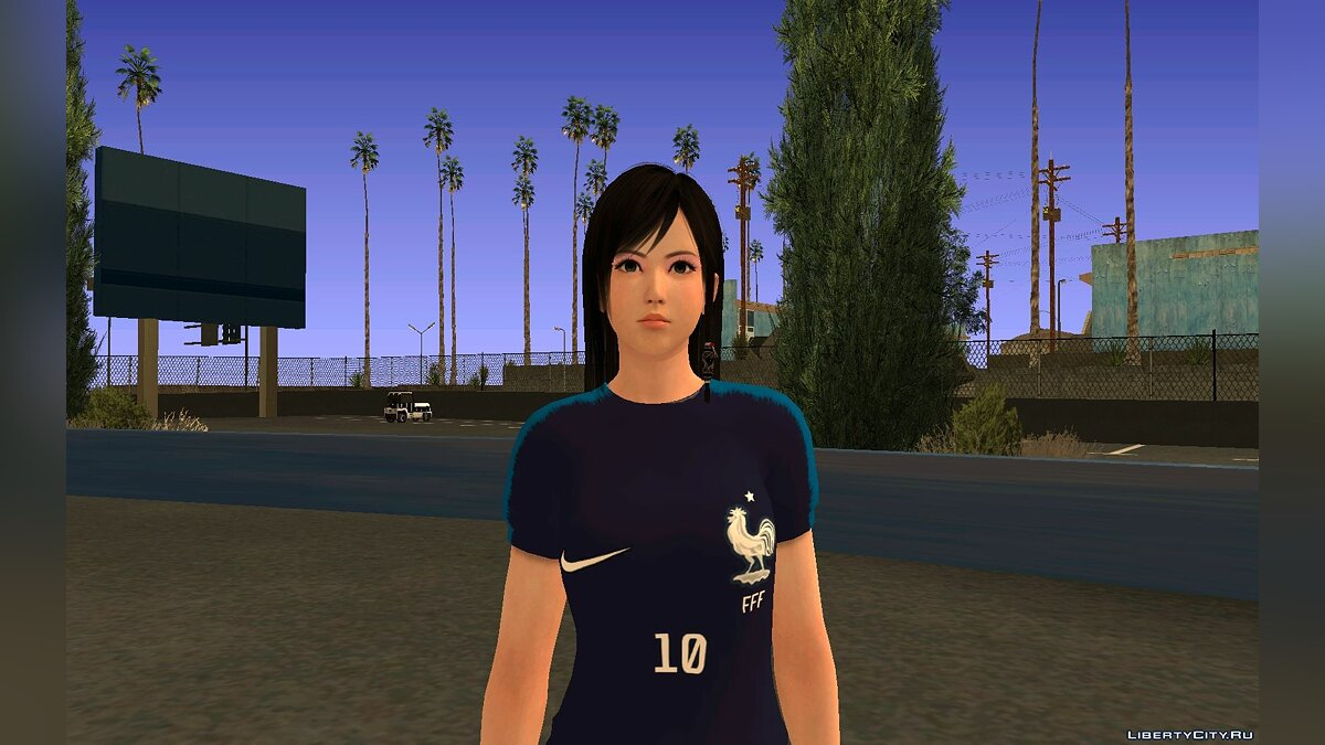 Новый персонаж Kokoro France National Football Team для GTA San Andreas