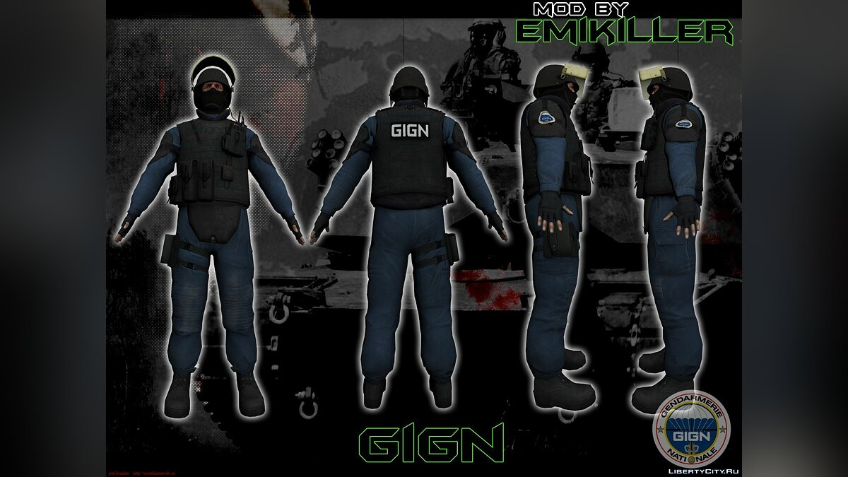 GIGN from CS:GO [v.2] для GTA San Andreas