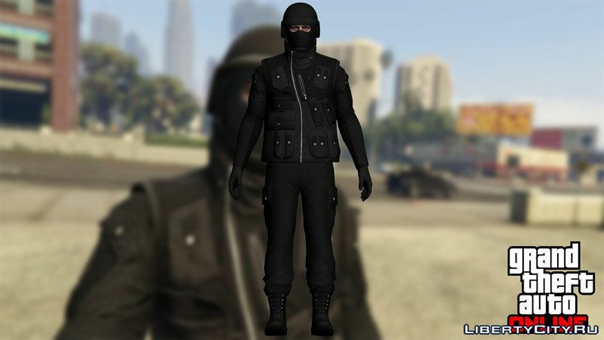 Skin from GTA Online (Heists DLC) для GTA San Andreas