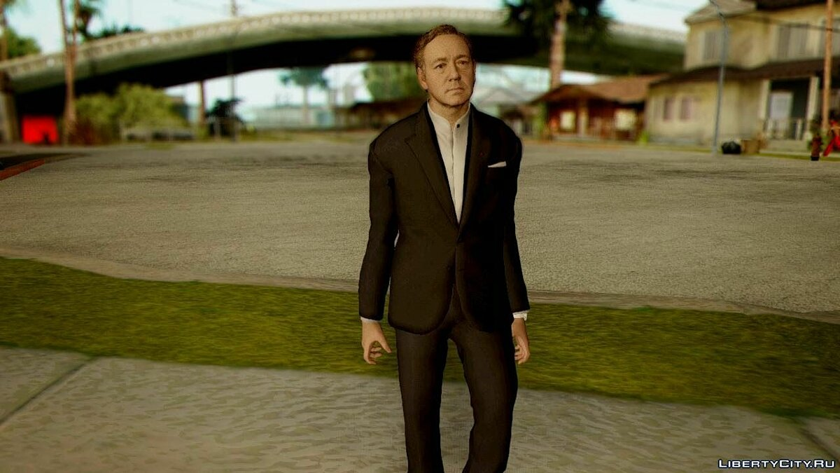 Call Of Duty Advanced Warfare Jonathan Irons ( Kevin Spacey) для GTA San Andreas - скриншот #2