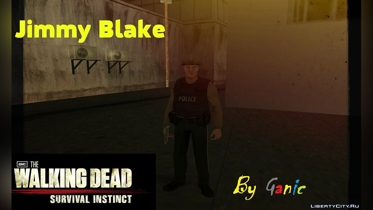 Jimmy Blake from The Walking Dead Survival Instinct для GTA San Andreas
