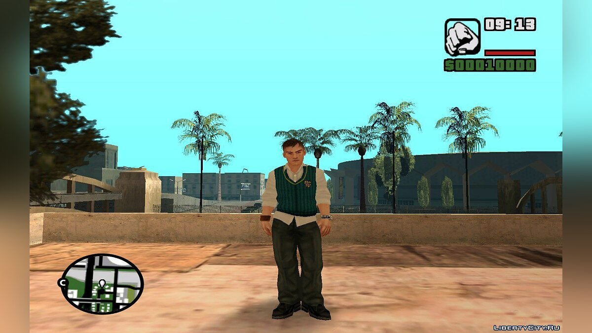 ��овый персонаж Gary Smith from Bully для GTA San Andreas