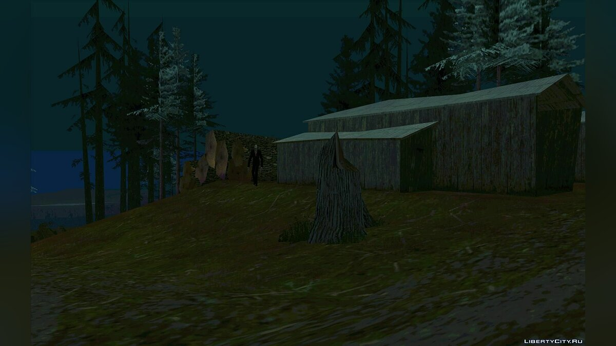 Slender from Slеnder Man the Arrival для GTA San Andreas